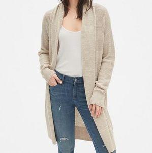 M Gap Shawl Collar Coat Cardigan Sweater